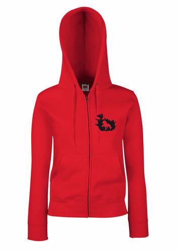 release date 08fa7 3e2a6 Damen Sweatshirt Jacke mit Insel und Pferd